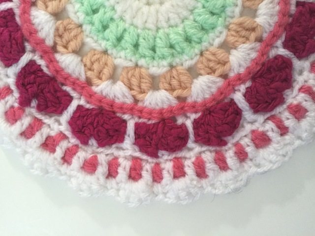 detail of laura's crochet mandala