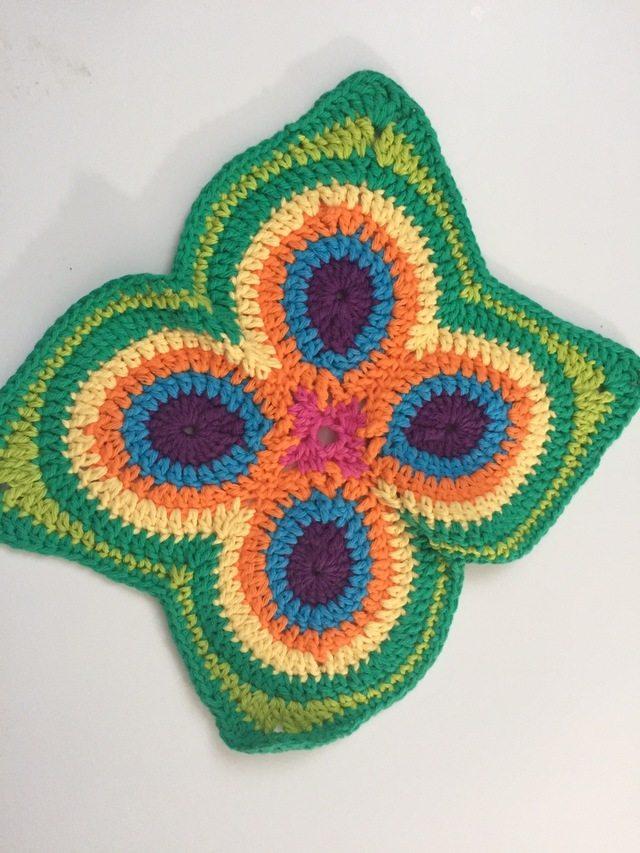 crochet peacock mandala prettiness