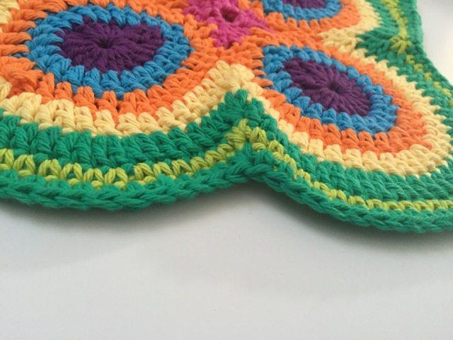 crochet peacock mandala pattern