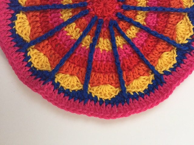 crochet spoke mandala from anneke