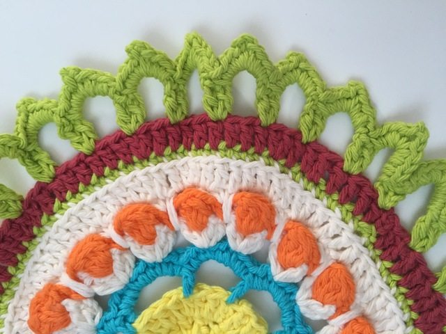 sunny green crochet mandalas for marinke by geri