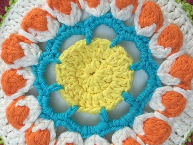 center detail of crochet mandala