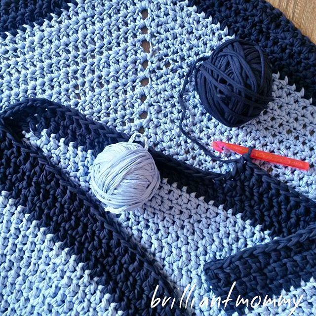 jysoulikmamma_brilliantmommy crochet t-shirt yarn rug