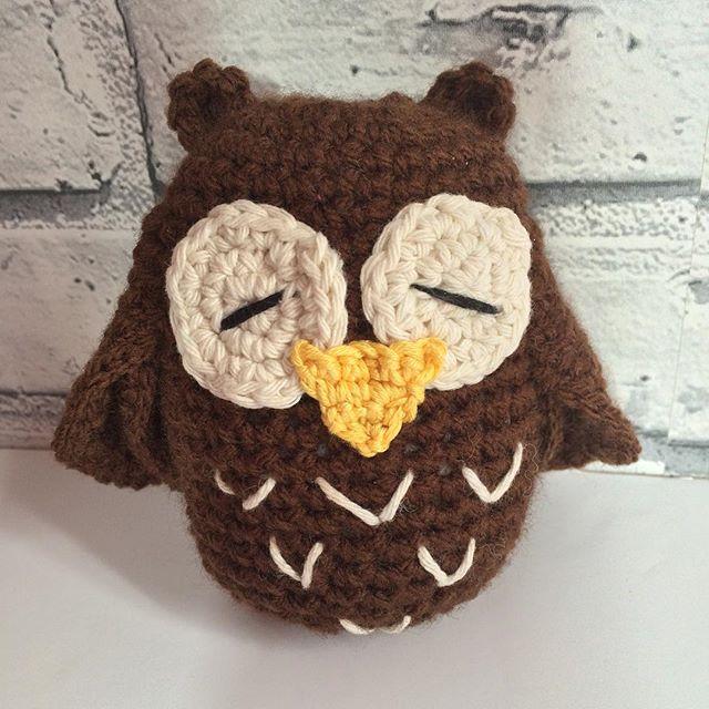 kellyandcrochet crochet owl