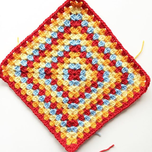 knitpurlhook crochet granny square