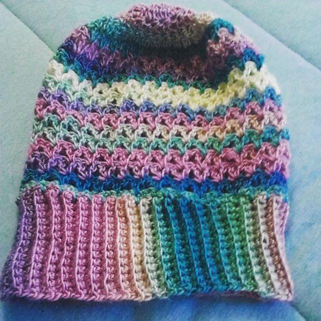 krystlewvscrochet rainbow crochet slouchy
