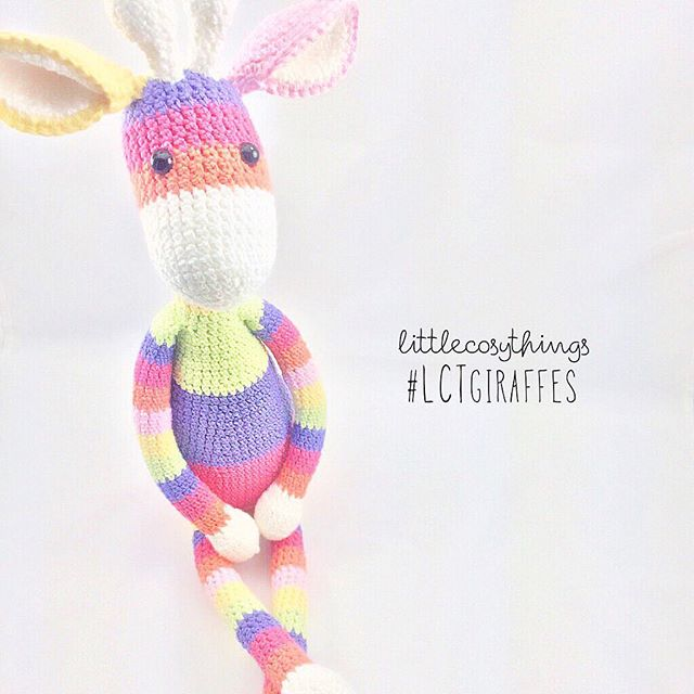 littlecosythings crochet giraffe striped