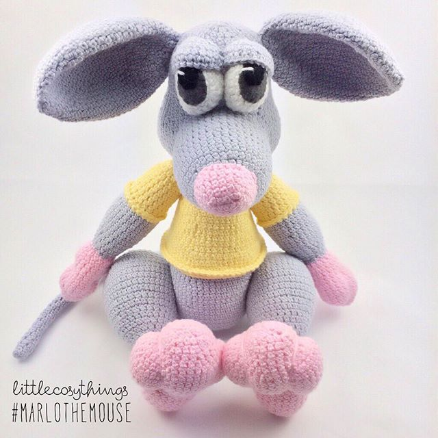 littlecosythings crochet rat
