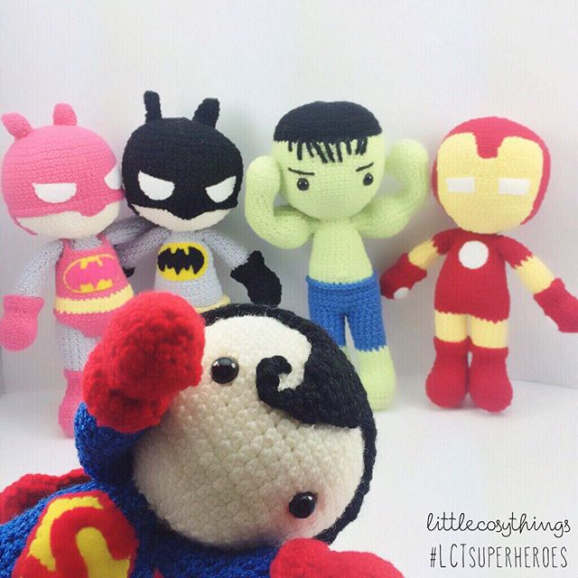littlecosythings crochet superheroes set