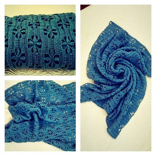 lyudmilascherbina crochet blue scarf