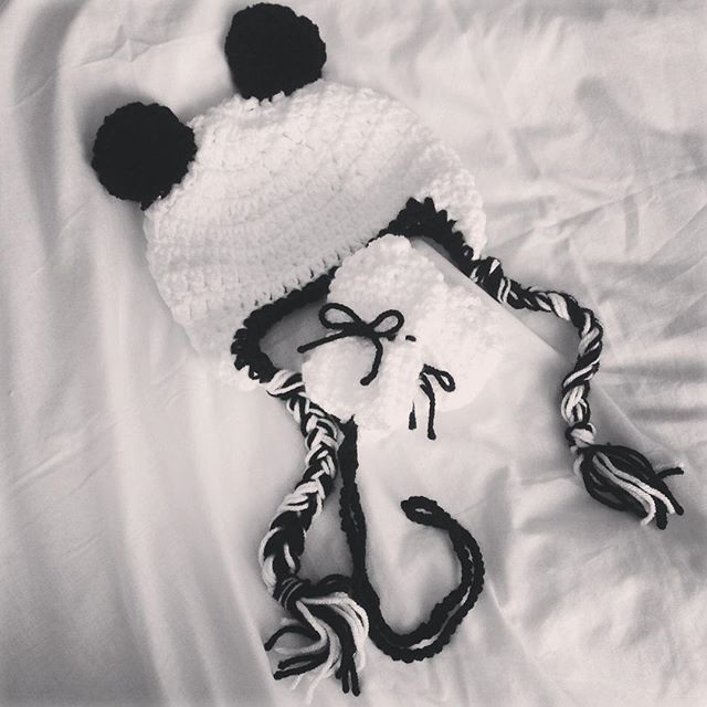 make_the_nest crochet baby panda set