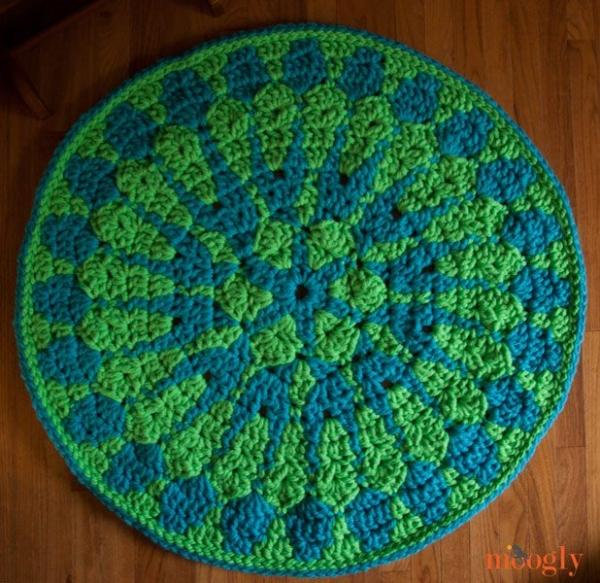 mandala crochet rug pattern