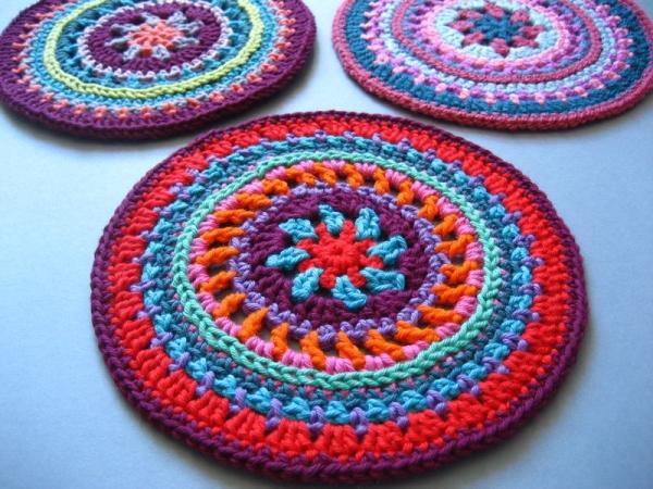 roues Mandala de motif de crochet