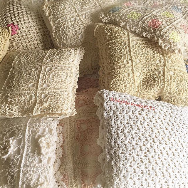 nickymirandacrochet crochet lace pillows