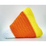 Candy corn pillow by Oliviartcreations