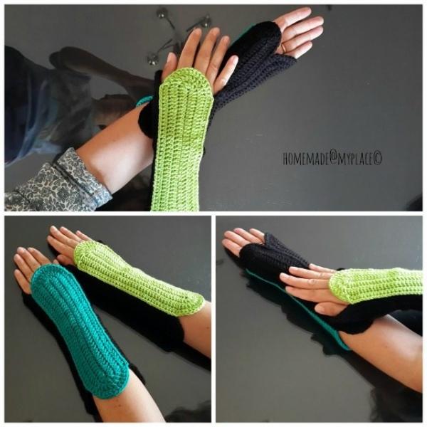 oval wristwarmers free crochet pattern