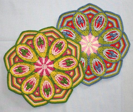 motif overlay crochet mandala à vendre