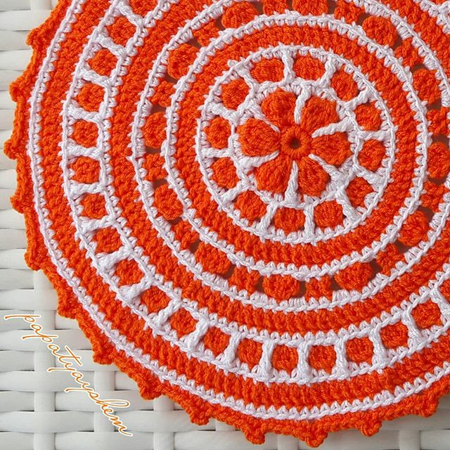 papatyayshem crochet mandala orange