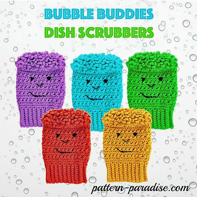 patternparadise crochet dish scrubbies