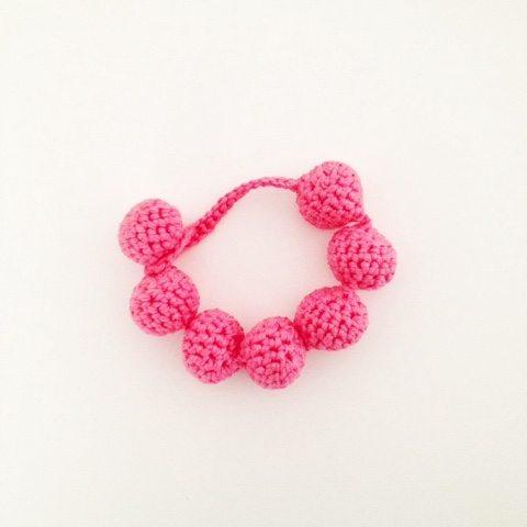 roze kralen gehaakte armband gratis patroon