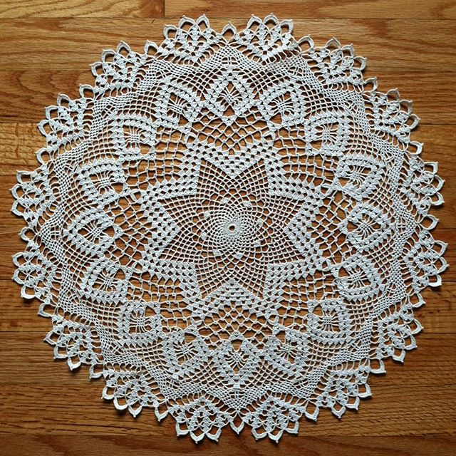 quiltwrapup crochet doily by elizabeth hiddleson