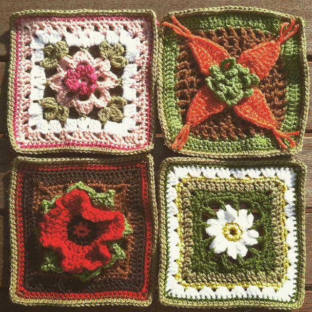 quiltwrapup crochet flower squares