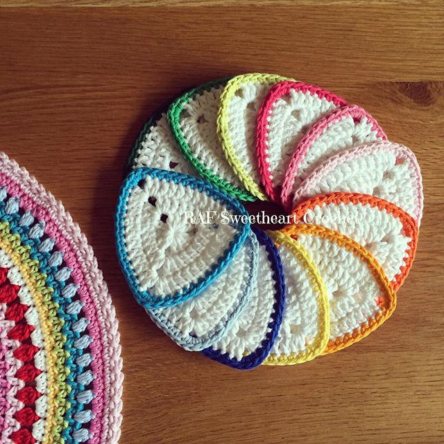 rafsweetheart rainbow crochet bunting