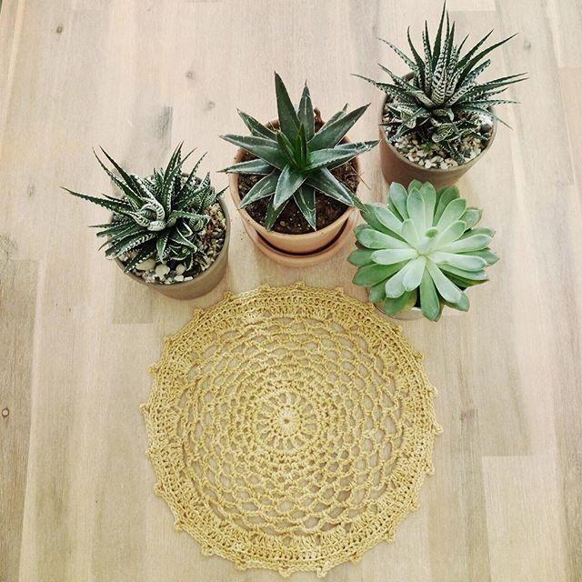 rawrustic crochet mandala golden