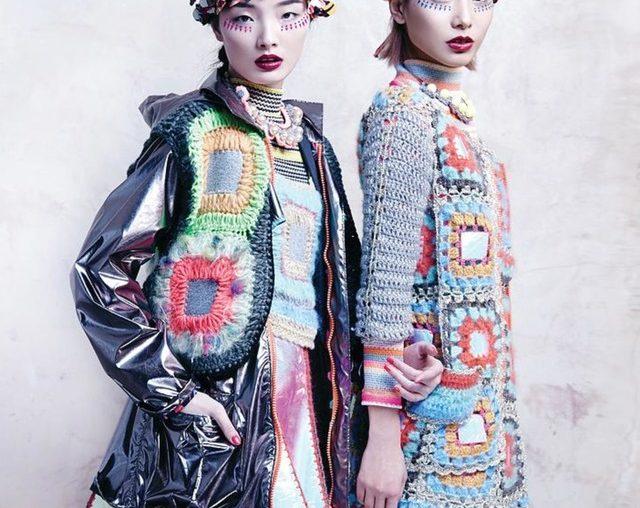 crochet granny square style