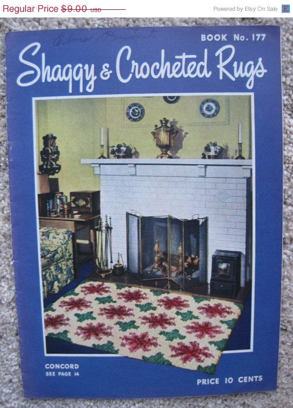 shaggy and crocheted rugs 1942 book