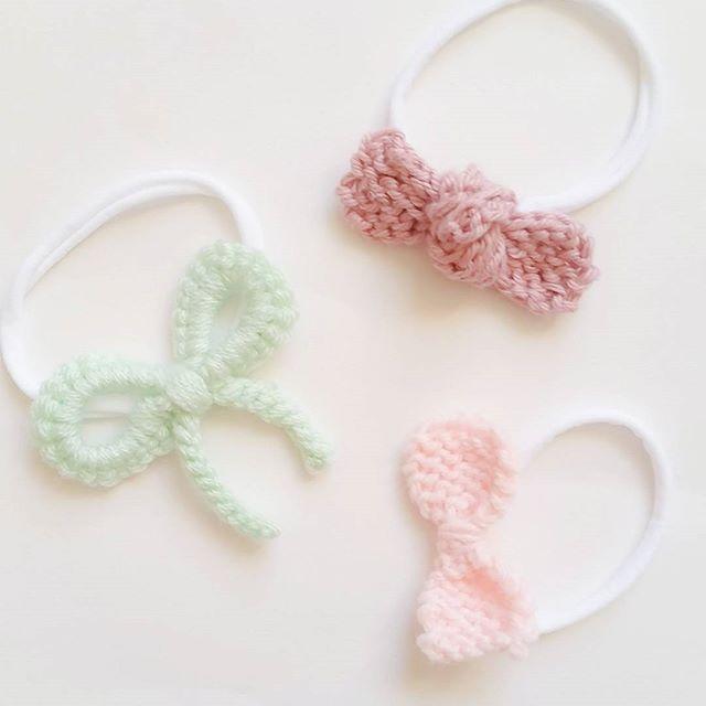 shopnomihandmade crochet pastel bows