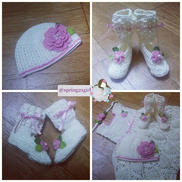 spring21girl crochet baby set