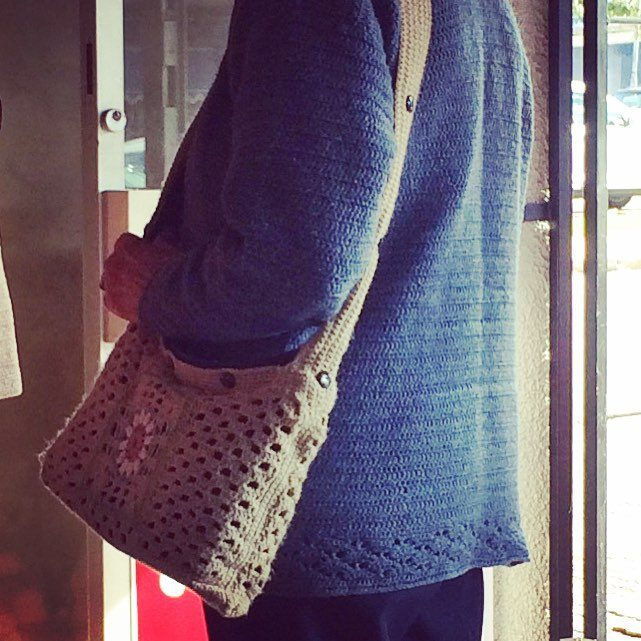 stelcrochet flower crochet purse spotted