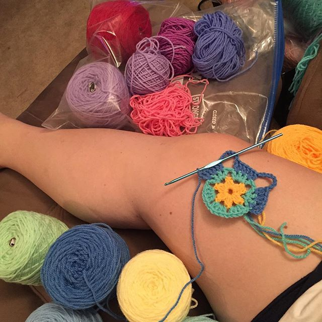 suzycrocheter71 crochet mandala wip