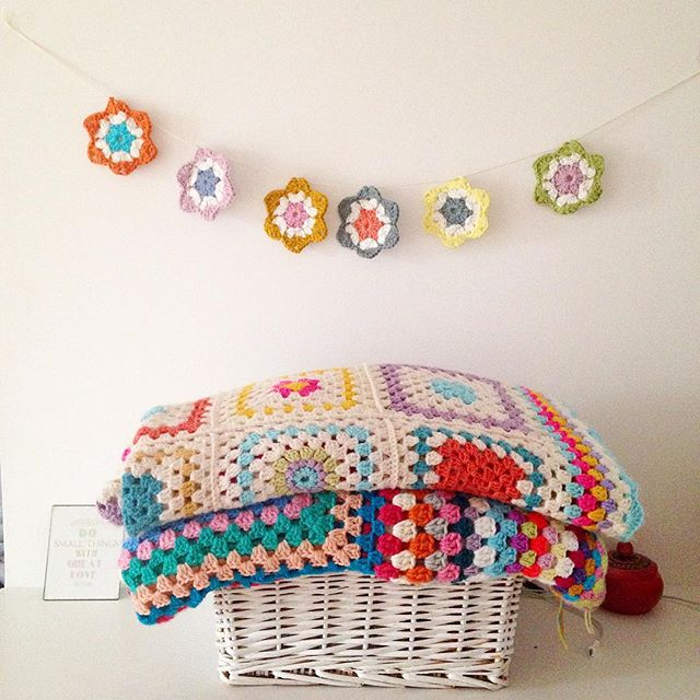 sweet_sharna crochet garland and blankets