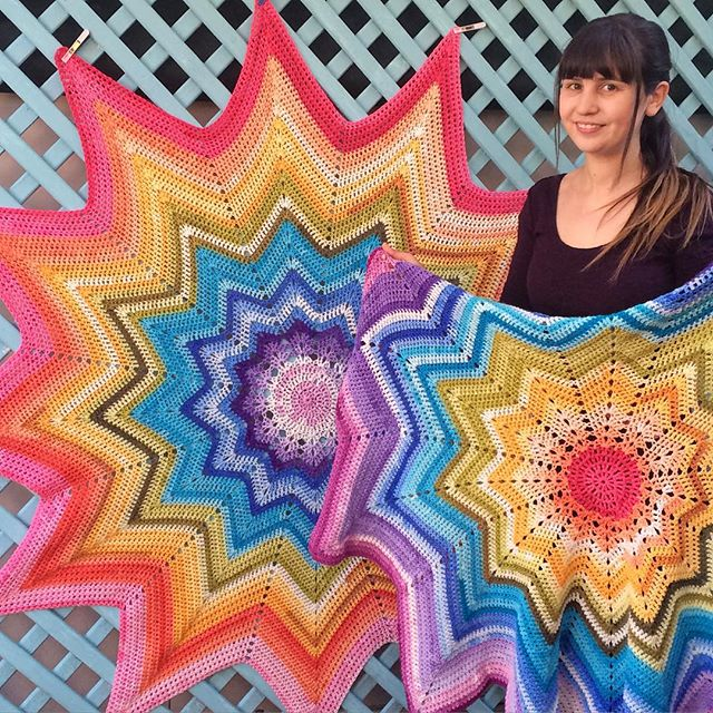 thatgirlwhocrochets rainbow crochet ripples