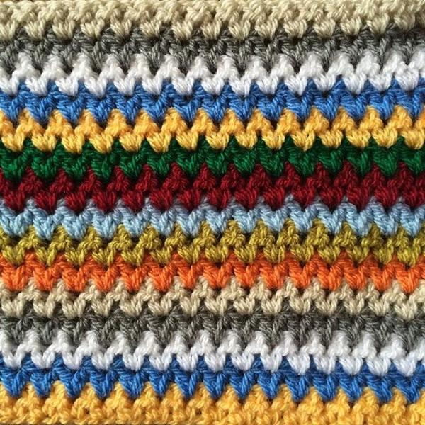 thepolkadotgiraffe crochet vstitch