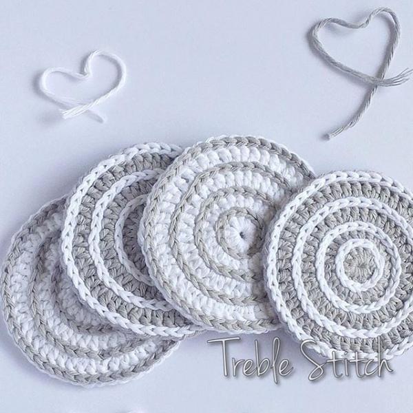Crochet Stitches Treble : Crochet Potholders, Coasters, Trivets and More Kitchen Crochet
