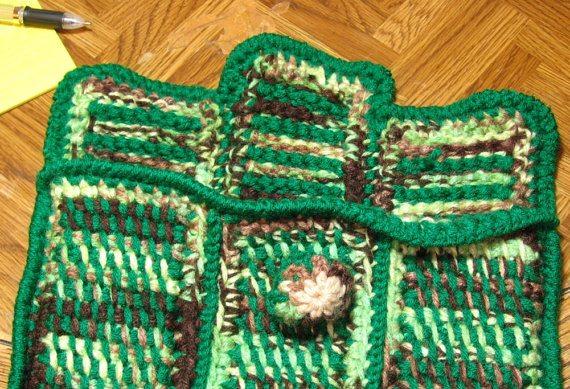 tunisian crochet laptop sleeve pattern