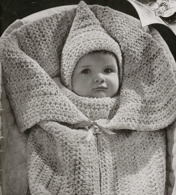 vintage crochet baby wrap pattern 1942