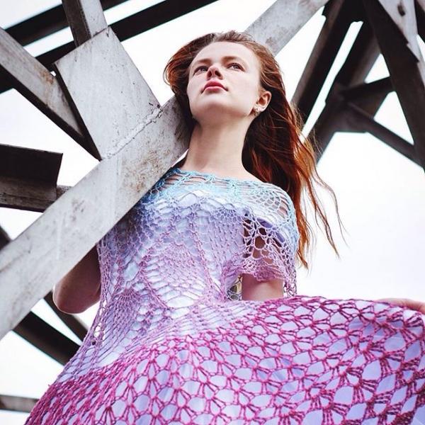 windblown crochet dress
