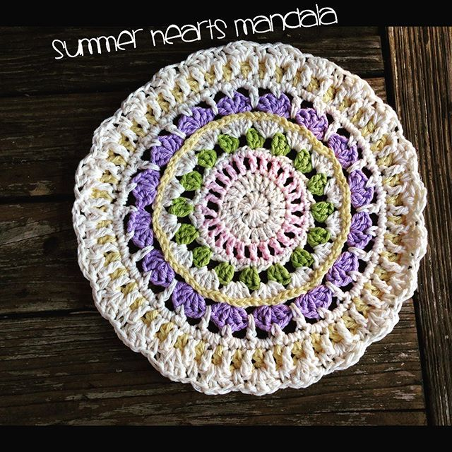 yarnfreak crochet summer hearts andala