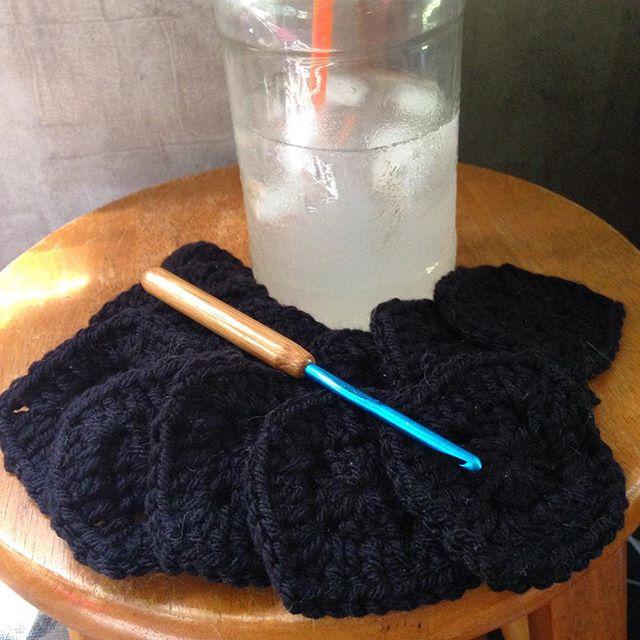 yarnyenta247 crochet pillow squares