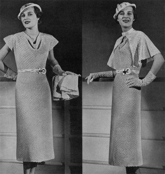 1930s crochet dress pattern