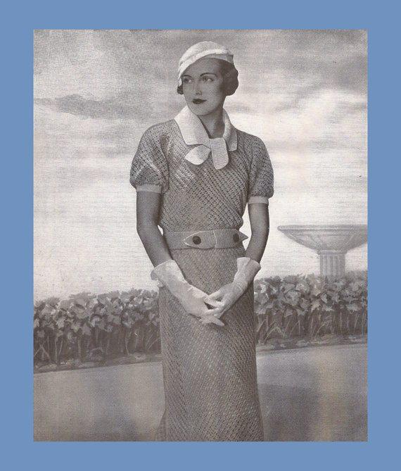 1934 crochet dress pattern