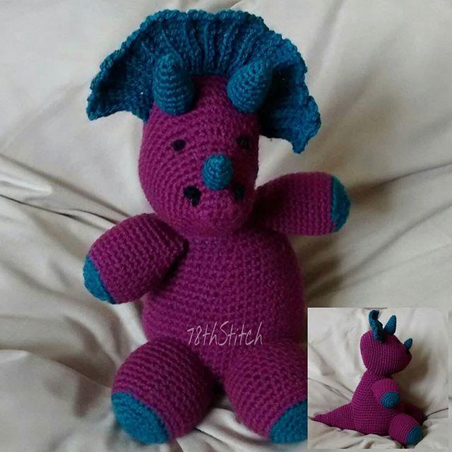 78th_stitch crochet dinosaur