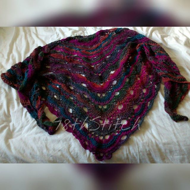 78th_stitch crochet virus shawl