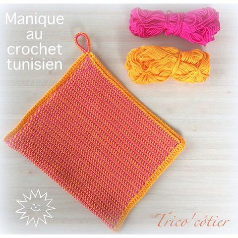 aglaelaser tunisian crochet potholder