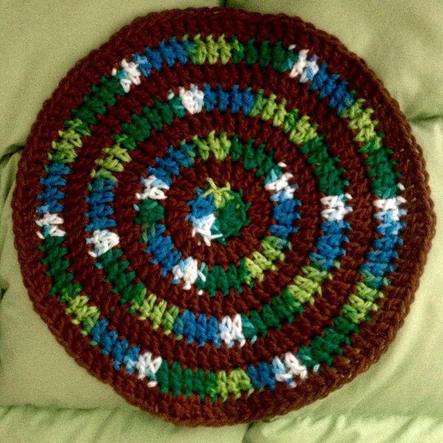 ahappycrocheter picot edge mandala in boho crochet