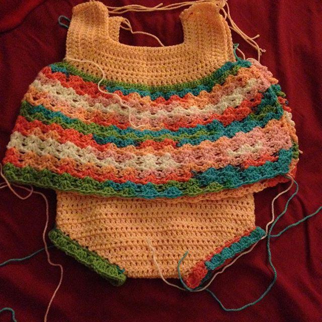 amysvintagehandknits crochet dress and pants